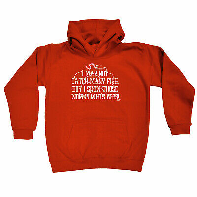 Fishing Kids Childrens Hoodie Hoody Funny - I May Not Catch Many Fish But
