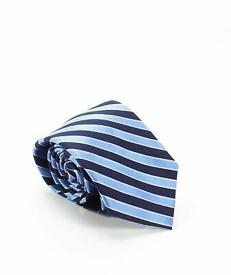 Club Room NEW Navy Blue Men's New-Stripe Classic Neck Tie Silk Accessory $52 369