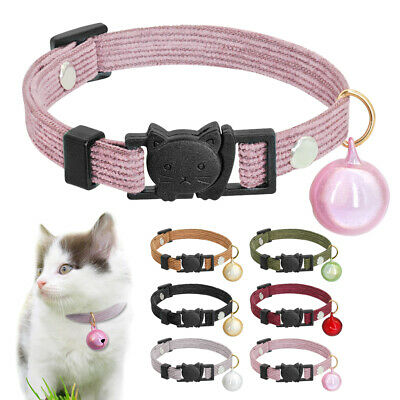 Breakaway Cat Collar with Bell Safety Quick Release Buckle for Pet Puppy Kitten