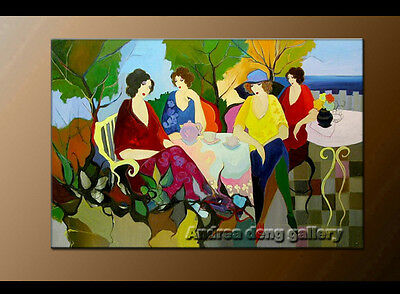 Modern Itzchak Tarkay Oil Painting art Repro Living Room Lady Thoughts It043