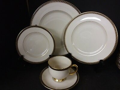 20 pc Lenox Tyler Presidential 4 x5 Place Settings Dinner Salad Bread Cup Saucer