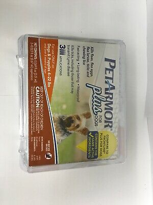 NEW PetArmor Plus Flea & Tick Treatment for Dogs 4-22 lbs - 3 Month Supply