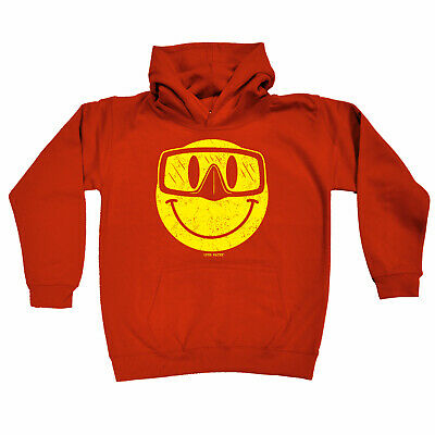 Scuba Diving Kids Childrens Hoodie Hoody Funny - Smiling Goggles Diver Scuba Div