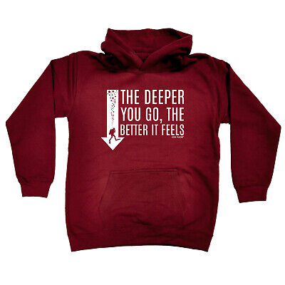 Scuba Diving Kids Childrens Hoodie Hoody Funny - The Deeper Better Feels Scuba D