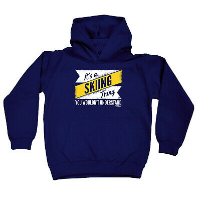 Skiing Snowboarding Kids Childrens Hoodie Hoody Funny - Its A Skiing Thing