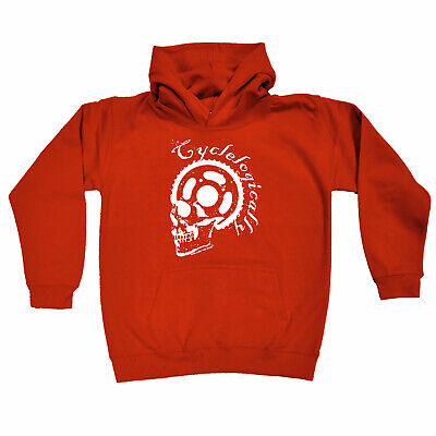 Cycling Kids Childrens Hoodie Hoody Funny - Cycling Cyclelogically