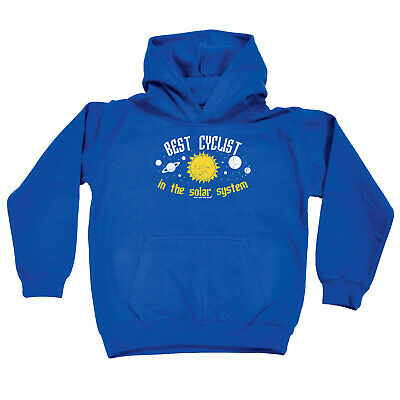 Cycling Kids Childrens Hoodie Hoody Funny - Cycling Best Cyclist In The Solar Sy