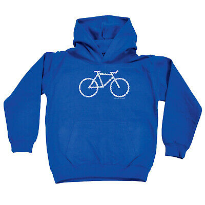 Cycling Kids Childrens Hoodie Hoody Funny - Cycling Chain Bike