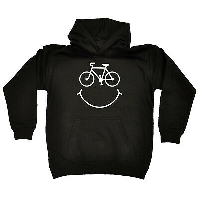 Cycling Kids Childrens Hoodie Hoody Funny - Cycling Cycle Smile