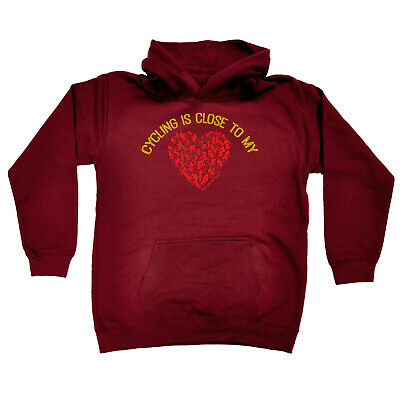 Cycling Kids Childrens Hoodie Hoody Funny - Cycling Cycling Is Close To My Heart