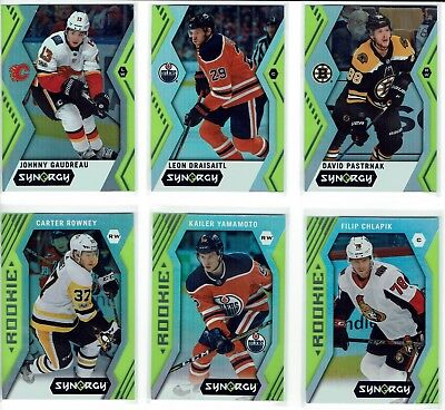 2017-18 Upper Deck Synergy Green Parallel (Lot of 12 cards)