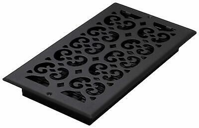 Black Steel Decor Grates Register Filter Wall Ceiling Floor 6x12' Louvered Style