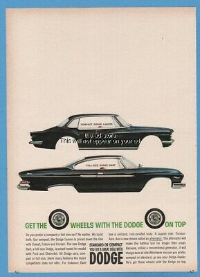 1961 Dodge Lancer Dart coupe Get the wheels with the Dodge on top car ad