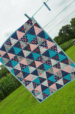 Handmade Girls Tribal Triangles Quilt. New!