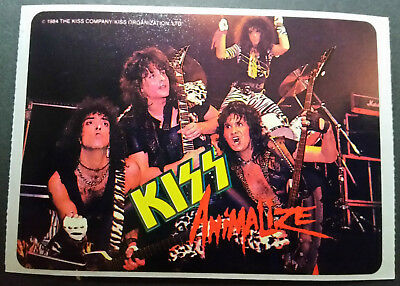 Vintage 1984 KISS Animalize Sticker With Mark St John And Eric Carr - Rare!!