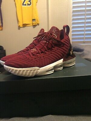 1d26919cad049 New Nike Lebron 16 XVI Size 11 King James Team Red Gold Print AO2588-601