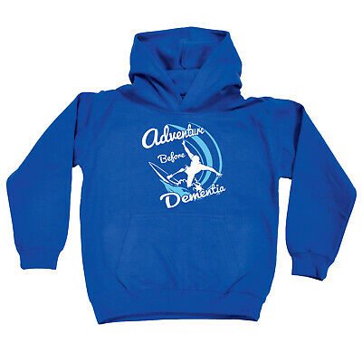 Funny Kids Childrens Hoodie Hoody - Surf Adventure Before Dementia