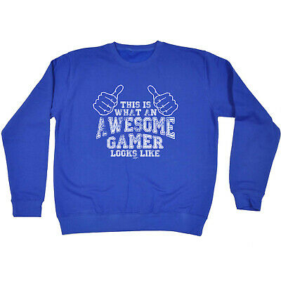 Funny Kids Childrens Sweatshirt Jumper - This Is What Awesome Gamer
