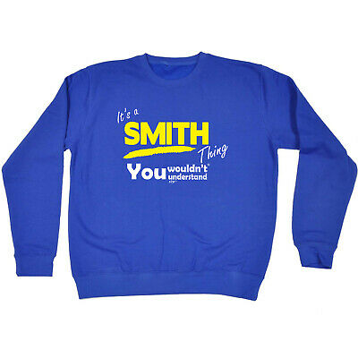 Funny Kids Childrens Sweatshirt Jumper - Smith V1 Its A Surname Thing