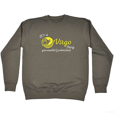 Funny Kids Childrens Sweatshirt Jumper - Star Sign Its A Virgo  Thing You Wouldn