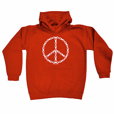 Cycling Kids Childrens Hoodie Hoody Funny - Cycling Peace Chain