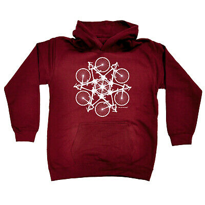 Cycling Kids Childrens Hoodie Hoody Funny - Cycling Kaleidospoke