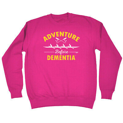 Funny Kids Childrens Sweatshirt Jumper - Rowing Adventure Before Dementia