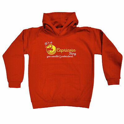 Funny Kids Childrens Hoodie Hoody - Star Sign Its A Capricorn Thing You Wouldnt