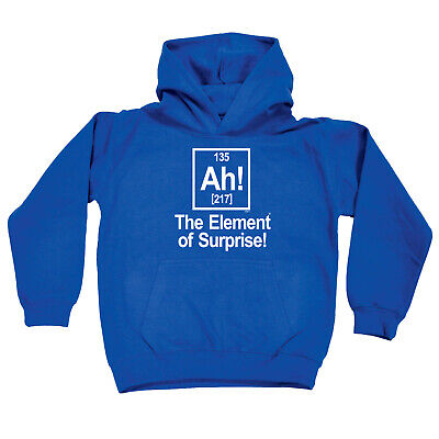 Funny Kids Childrens Hoodie Hoody - The Element Of Surprise White