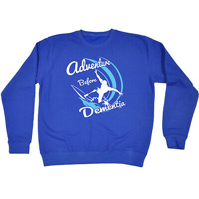 Funny Kids Childrens Sweatshirt Jumper - Surf Adventure Before Dementia
