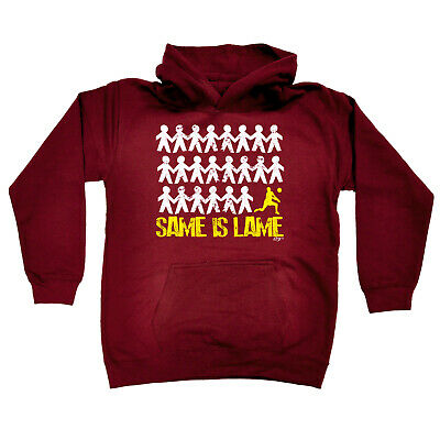 Funny Kids Childrens Hoodie Hoody - Same Is Lame Volleyball