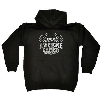 Funny Kids Childrens Hoodie Hoody - This Is What Awesome Gamer