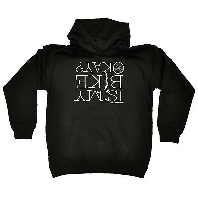 Cycling Kids Childrens Hoodie Hoody Funny - Cycling Is My Bike Okay