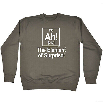 Funny Kids Childrens Sweatshirt Jumper - The Element Of Surprise White