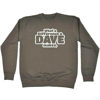 Funny Kids Childrens Sweatshirt Jumper - What A Difference A Dave Makes