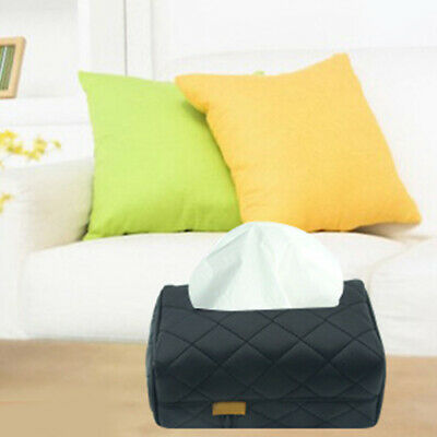PU Leather Tissue Box Cover Paper Pumping Hotel Car Home Napkin Rack Case Ce