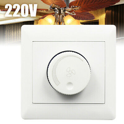 220V Adjustment Ceiling Fan Speed Control Switch Controller Wall Button 86 Type