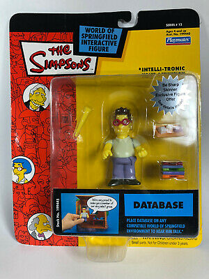 "The Simpsons Playmates Series 12 ""Database"" Figure New"