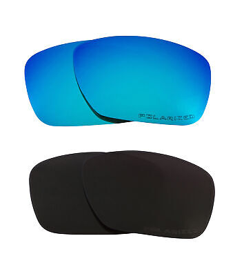 4132de4754b TINCAN Replacement Lenses Polarized Black   Blue by SEEK fits OAKLEY  Sunglasses