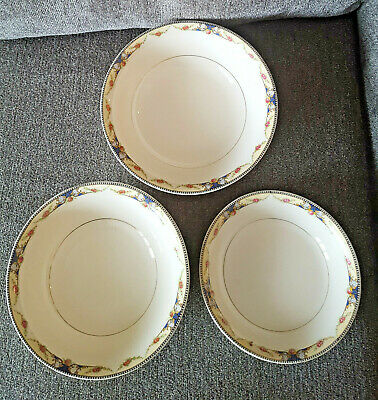 Antique Nesting Serving Bowls Universal Cambridge Ivory China Set of 3