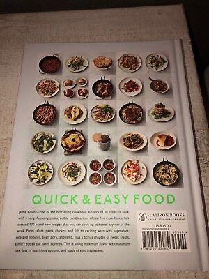 5 Ingredients Quick and Easy Food by Jamie Oliver Special Diet Easy Hardcover...
