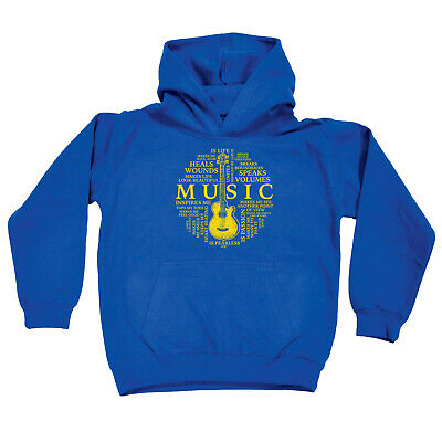 Funny Kids Childrens Hoodie Hoody - Music Meaning