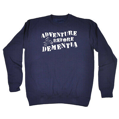 Funny Kids Childrens Sweatshirt Jumper - Motox Adventure Before Dementia