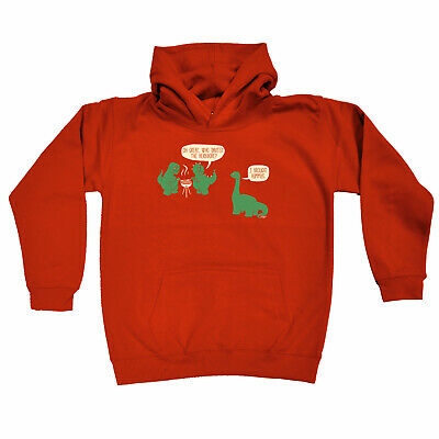Funny Kids Childrens Hoodie Hoody - Oh Great Who Invited The Herbivore Dinosaur