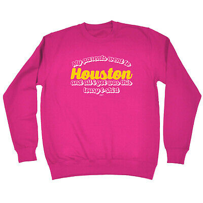 Funny Kids Childrens Sweatshirt Jumper - My Parents Went To Houston And All I Go