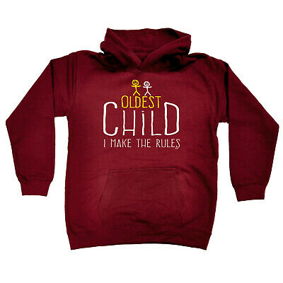 Funny Kids Childrens Hoodie Hoody - Oldest Child 2 Make The Rules