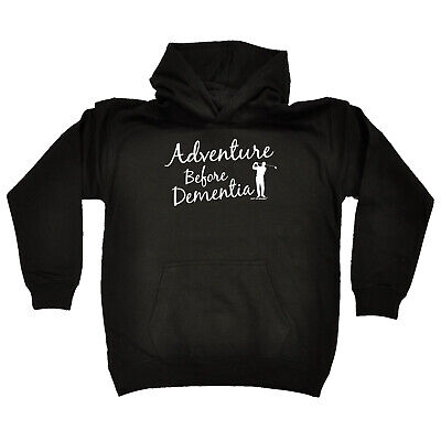 Golfing Kids Childrens Hoodie Hoody Funny - Adventure Before Dementia Golf