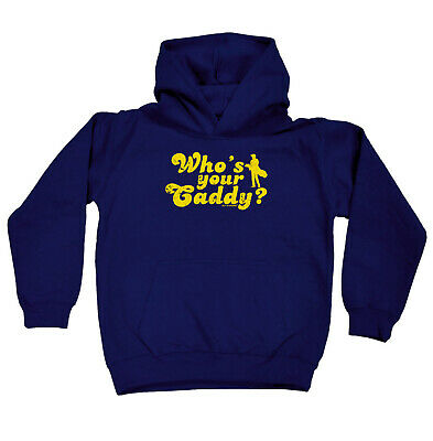 Golfing Kids Childrens Hoodie Hoody Funny - Golf Whos Your Caddy