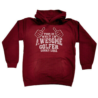 Golfing Kids Childrens Hoodie Hoody Funny - Golf This Is What An Awesome Golfer