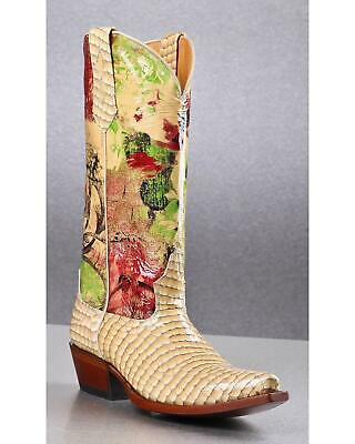 8a4df84b91e9 Johnny Ringo Women s Faux Snakeskin Printed Cowgirl Boot - Snip Toe -  JR628-06T